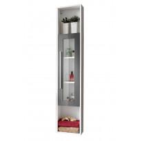 Korkea kaappi Interia Domino, 30x160x19 cm, harmaa/valkoinen, Tammiston poistotuote