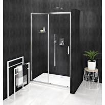 Kaksiosainen suihkuovi syvennykseen Interia Sigma Simply, seinä+liukuovi, 1300x1900mm, kirkas lasi