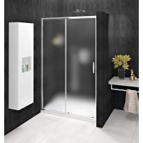 Kaksiosainen suihkuovi syvennykseen Interia Sigma Simply, seinä+liukuovi, 1100x1900mm, himmeä lasi