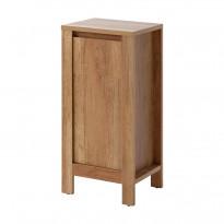 Sivukaappi Interia Classic Oak, 40x80x35 cm, tammi, Verkkokaupan poistotuote