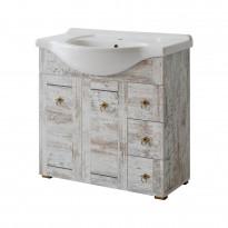 Allaskaappi Interia Provence 85, 85x79x35 cm, mänty antiikki