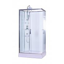 Hierova suihkukaappi Interia RSC-1080W, 100 x 80 x 225 cm, kirkas lasi