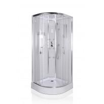 Hierova suihkukaappi Interia RSC-923W, 90 x 90 x 215 cm, kirkas lasi