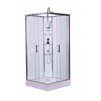 Hierova suihkukaappi Interia RSC-927W, 90 x 90 x 225 cm, kirkas lasi