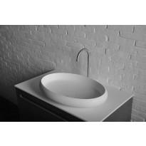 Pesuallas Interia Thin WN213, komposiittikivi, 600 X 400 X 112 mm, matta valkoinen