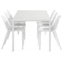Ruokailuryhmä Dylan, 6 Apollo tuolia, valkoinen