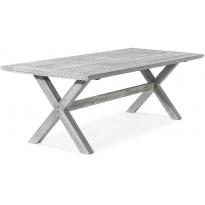 Ruokapöytä Visby, 200cm, 6-istuttava, harmaa