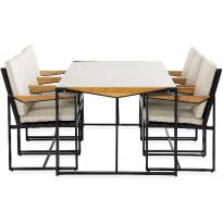 Ruokailuryhmä Östermalm, 6 tuolia, harmaa