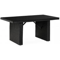 Ruokapöytä James, 146cm, 4-istuttava, musta