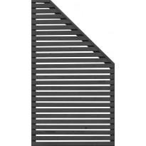 Aitaelementti JABO Horizont 4, 159x79cm, oikea, musta