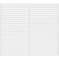 Aitaelementti JABO Horizont 1, 159x159cm, valkoinen