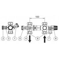 Jäspi varolaiteryhmä ja esisäätötermostaatti VLM- ja VLS-malleihin