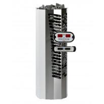 Sähkökiuas Titan 6,6kW (6-10 m³), erillinen ohjauskeskus, valkoinen