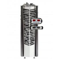 Sähkökiuas Triton 6,6kW (6-10 m³), erillinen ohjauskeskus, musta koristelista