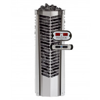 Sähkökiuas Triton 6,6kW (6-10 m³), erillinen ohjauskeskus, valkoinen koristelista