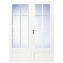 Pariovi massiivipuu 105 15x21 8-R valkoinen oikea lasitettu