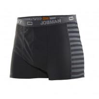 Alushousut Jobman 2576, dry-tech, musta/tummanharmaa