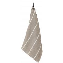 Käsipyyhe Liituraita, 75x50 cm, luonnonväri