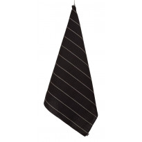Rullapyyhe Jokipiin Pellava Liituraita, sileä, 90x150cm, musta