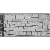 Laudeliina Jokipiin Pellava Kivetys 45x160cm, valkoinen/musta