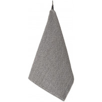 Käsipyyhe Jokipiin Pellava Rae, 75x50cm, valkoinen/tummanharmaa