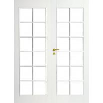 Pariovi lasitettu Swedoor Craft 105, massiivirakenne, valkoinen, kirkas lasi