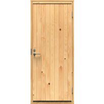 Ulko-ovi Mökki-1 9x19 oikeakätinen, puuvalmis mäntypaneeli
