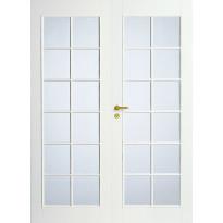 Pariovi lasitettu Swedoor Style 20, valkoinen, kirkas lasi