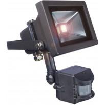 LED-valonheitin liiketunnistimella Bright Solar, IP65, 10W, 6000K, 750lm
