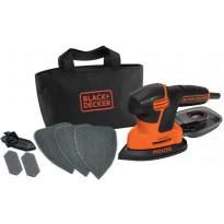 Hiomahiiri BLACK+DECKER Mouse® KA2000, 120W + 6 tarviketta + säilytyskassi