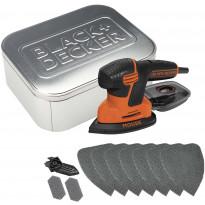 Hiomahiiri BLACK+DECKER Mouse® KA2000AT, 120W + 10 tarviketta + säilytysrasia