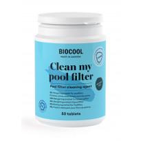 Suodattimen puhdistusaine Kirami Biocool Clean my poolfilter, 50 tablettia