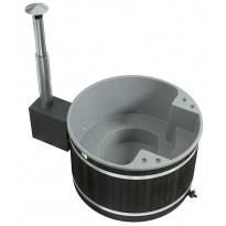 Kylpytynnyri Comfort Family M CULT-si ST CoalBlack, harmaa, 3-5hlöä, 1250l