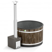 Kylpytynnyri Comfort Cozy M MACU ST, 4-6 hlöä, 1450l, Hiilenmusta, harmaa