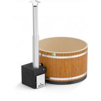 Kylpytynnyri Kirami Comfort Steady M Cube, 4-6hlöä, 1400l, Thermowood/CaramelBeige
