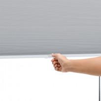 Pimentävä laskoskaihdin Kirsch Nora, 70x160cm, harmaa