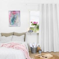 Pimennysverho Kirsch, 135x250cm, valkoinen