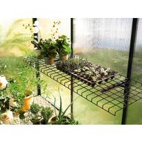 Taittuva teräslankahylly Biogreen, 40x120cm, vihreä