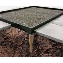 Terässokkeli kasvihuoneeseen Halls Magnum 8,3m², musta