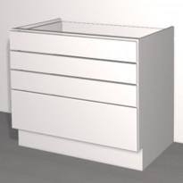 Laatikoston runko Ideal Keittiöt, 1000x710x568 mm, + 4 laatikkoa