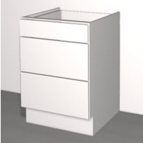 Laatikoston runko Ideal Keittiöt, 400x710x568 mm, + 3 laatikkoa