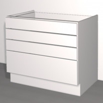 Laatikoston runko Ideal Keittiöt, 400x710x568 mm, + 4 laatikkoa