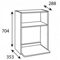 Mikrokaapin runko Ideal Keittiöt, 600x704x288 mm