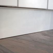 Sokkeli Ideal Keittiöt, 2500x150x13mm, vedenkestävä, mattavalkoinen
