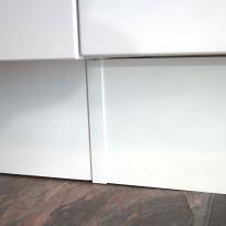 Sokkelin jatkopala Ideal Keittiöt, 150mm, melamiini, valkoinen