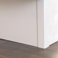 Sokkelin kulmapala Ideal Keittiöt, 150mm, vedenkestävä, mattavalkoinen