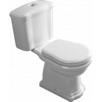 WC-istuin Kerasan Retro 3, P-lukko, kromi, 3/6l kaksoishuuhtelu