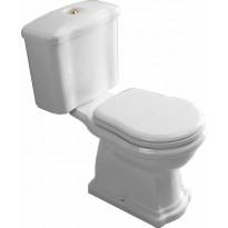 WC-istuin Kerasan Retro 3, P-lukko, pronssi, 3/6l kaksoishuuhtelu