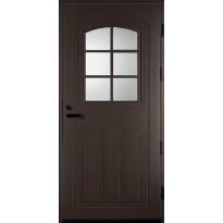Ulko-ovi Kaskipuu UOL2 1.0 9-10x21, karmi 115mm, RR32 tummanruskea