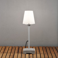 Pöytä-/lattiavalaisin Konstsmide Lucca 453-300, Ø180x590mm, harmaa/opaali